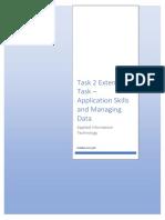 application skills and managing data