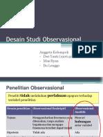 Desain Studi Observasional