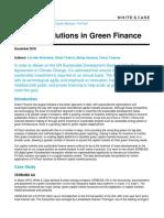 Fintech solutions in Green Finance