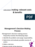 Decision Making- Relevant Costs & Benefits