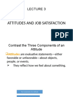Attitudes and Job Satisfaction Lecture 3
