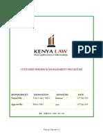 KL CustomerFeedbackManagement Procedure