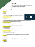 Q1-Q50-Non Standard Answers (2 Files Merged)