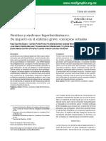 Ferritina y síndrome hiperferritinémico. Su impacto en el enfermo grave; conceptos actuales