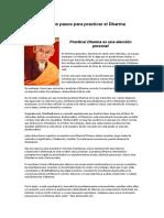 Primeros Pasos Para Practicar El Dharma