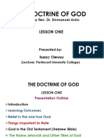 The Doctrine of God