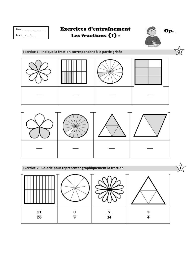 Les fractions cm1 | Fraction (Mathématiques ...