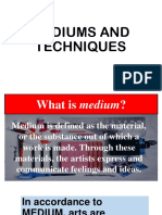 Mediums and Techniques