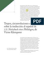 Tropos, Circunvalaciones Tradouci'on Del Lti, De Klemperer