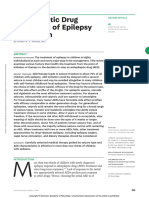 Antiepileptic Drug Treatment of Epilepsy in Children