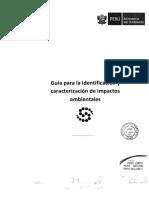 Guía Para La Identificación y Caracterización de Impactos Ambientales SEIA 3.3