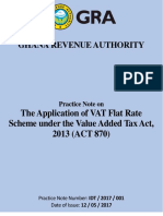 Practice Note on VAT Flat Rate Scheme