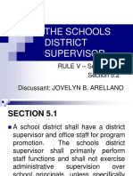 The Schools District Supervisor- Report