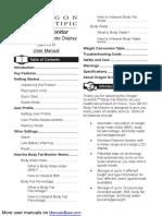 Manual Oregon Scientific Gr101