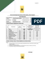 Sobha Water Test Report