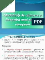 Finantarea unui proiect european