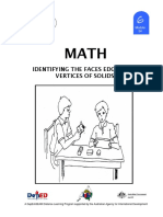 Math 6 DLP 54 - Identifying the Faces Edges, And Vertices of Solids