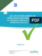 Guia Diligenciamiento Invima - VUCE - 2019
