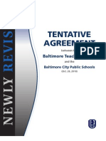 Tentative Agreement between the Baltimore Teachers Union and the Baltimore City Public Schools
