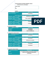 Ficha de Evaluación de Columna Vertebral y Pelvis