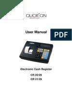 Electronic Cash Register CR 20/28 21/29