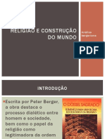 Aula Religião e Construção Do Mundo - Peter Berger