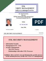 ITIL Security Managmnet