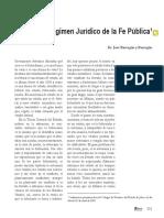 Régimen Jurídico de La Fe Pública - Barragán