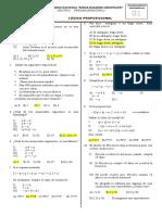 Razonamiento matemático con clave