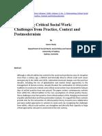 Healy 2001 Critical Social Work