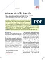 Anti Microbial Activity of Cao Nanoparticles