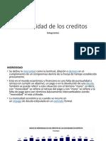 Morosidad de Los Creditos