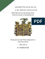 Plan 1147 2015 Evaluacion Poi 2014 III t