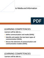 1.MIL 1. Introduction to MIL Part 1 Communication Media Information Technology Literacy and MIL (1)