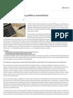 Sobre a Eficácia Da Política Monetária e Efeitos Da Indexação Da Dívida Pública à Selic