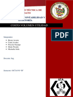 Bryan Acosta Costo Volumen