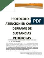 Protocolo en Caso de Derrames de Sustancias Peligrosas (1)