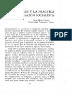 Los maestros y la práctica en la educación socialista