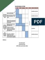 Matriz de Planificación Semanal