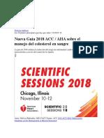 Nueva Guia 2018 Acc Aha Hiperlipidemia