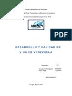 Desarrollo y Calidad de Vida en Venezuela