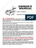Black Widow Bow Owner Manual