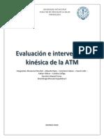 Evaluación e intervención kinésica en ATM