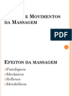 Efeitos e Movimentos Da Massagem