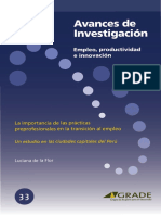 LA IMPORTANCIA DE LAS PRACTICAS PRE - PROFESIONALES EN LA TRANSICIÓN AL EMPLEO