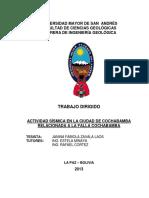 2. TRABAJO DIRIGIDO - Actividad Sísmica en La Ciudad de Cochabamba Relacionada a La Falla Cochaba