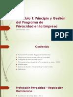 Capt 1 - Principio y Gestión Del Programa de Privacidad