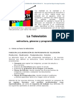 La Televisión EstructuraGéneros y Programación
