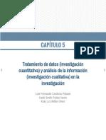 Tratamiento de datos INV CUANTITATIVA- Análisis de información INV CUALITATIVA