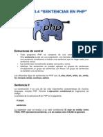 Sentencias en PHP